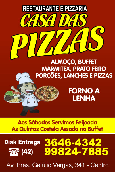 Casa das Pizzas - Restaurante e Pizzaria