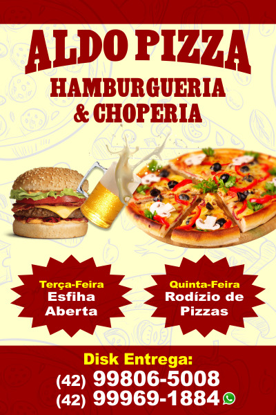 Aldo Pizza - Hamburgueria & Choperia