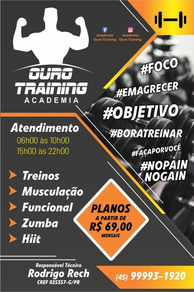 Academia Ouro Training Ouro Verde do Oeste